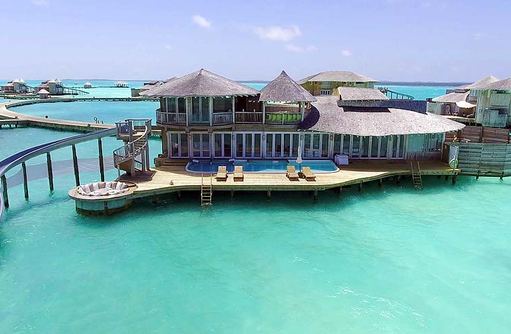 2 Bedroom Wasservilla mit Rutsche, Soneva Jani, Maldives