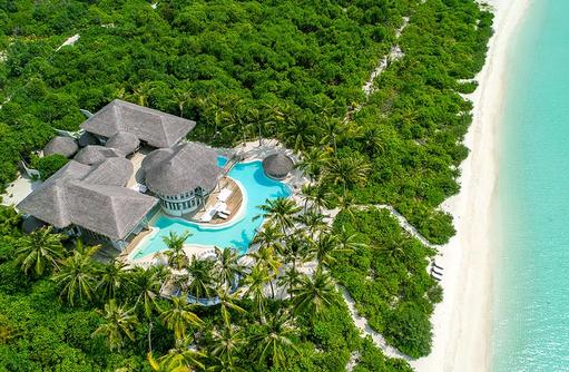 4 Bedroom Island Reserve von oben, Soneva Jani, Maldives