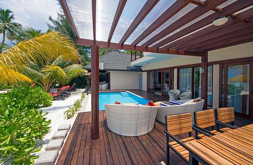 Terrasse des Summer House, Summer Island Maldives