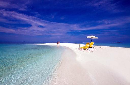 Paar an der Sandbank, Summer Island Maldives