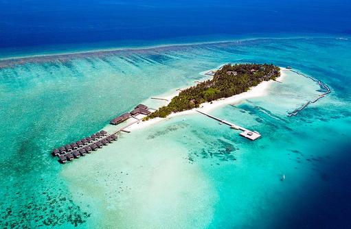 Luftaufnahme, Summer Island Maldives