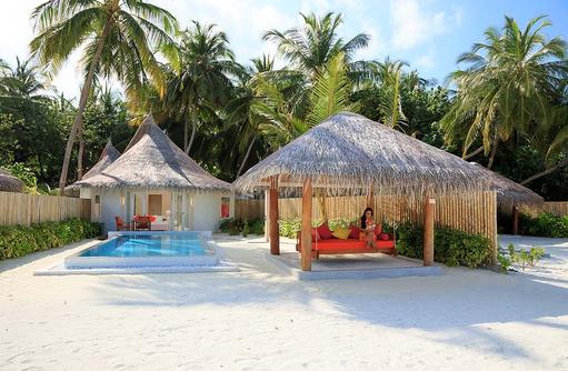 Deluxe Beach Villa with Pool, Frontansicht, Sun Aqua Vilu Reef Maldives
