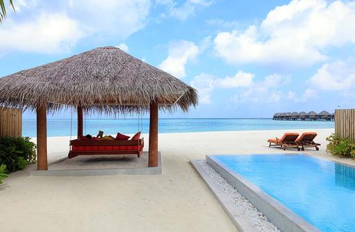 Deluxe Beach Villa with Pool, Daybed und Pool, Strandzugang, Sun Aqua Vilu Reef Maldives