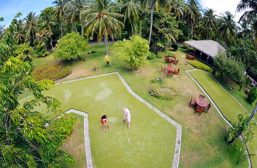 Golfplatz von oben, Sun Island Resort & SPA, Maldives