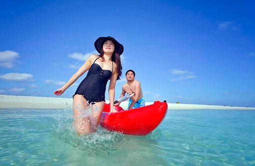 Kajak fahren, Sun Island Resort & SPA, Maldives