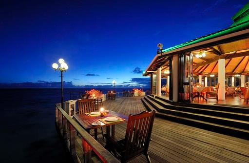 Terrasse des Southern Star Restaurant, Sun Island Resort & SPA, Maldives