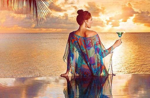 Sonnenuntergang, Sundowner, Infinity Pool I Taj Exotica Maldives Resort & SPA