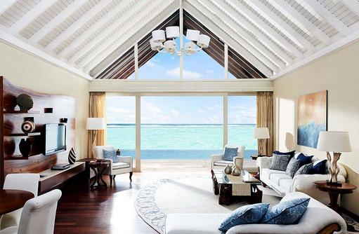 The Rehendi Presidential Suite, Wohnzimmer I Taj Exotica Maldives Resort & SPA