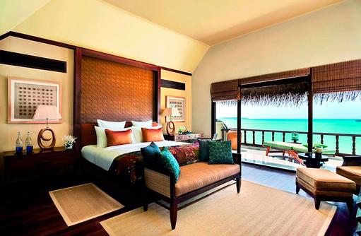 Beach Villa Suite, Schlafzimmer I Taj Exotica Maldives Resort & SPA