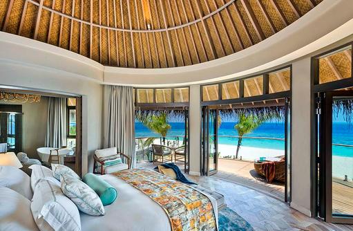 Schlafzimmer in der Beach Residence, The Nautilus