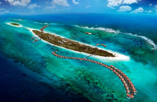 Überblick auf die Insel, The Residence Maldives at Falhumaafushi