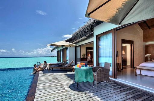 Terrasse mit Pool, Two Bedroom Water Pool Villa, The Residence Maldives at Falhumaafushi