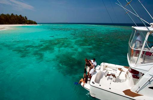 Taucherboot, The Sun Siyam Iru Fushi, Maldives
