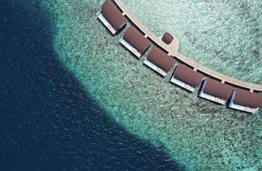 Aerial Over Water Villas, The Westin Maldives Miriandhoo Resort