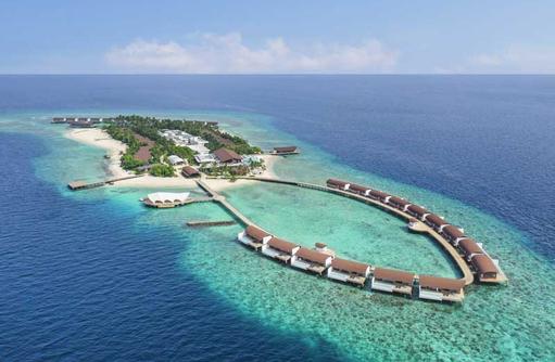 Aerial Island, The Westin Maldives Miriandhoo Resort