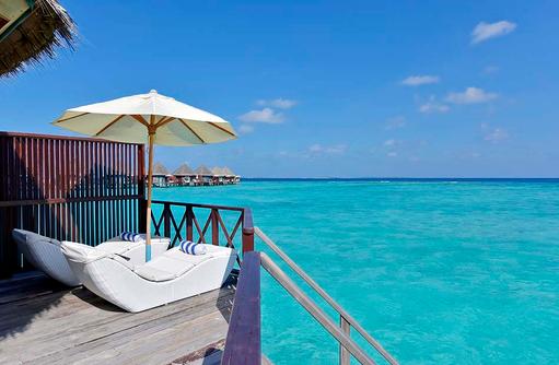 Water Bungalow, Sonnendeck, Thulhagiri Island Resort, Maldives