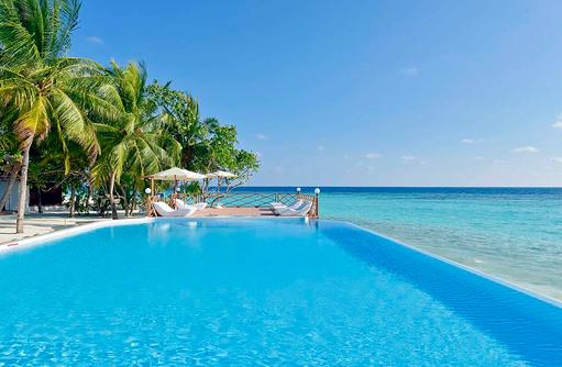 Infinity Pool, Thulhagiri Island Resort, Maldives