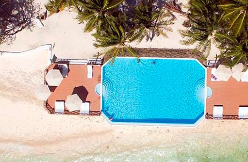 Infinity Pool von oben, Thulhagiri Island Resort, Maldives
