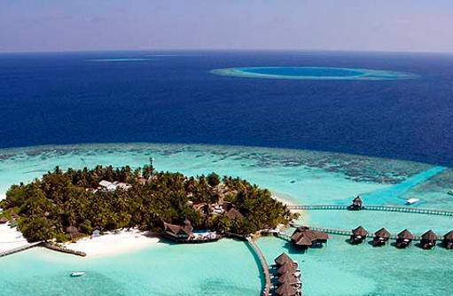 Panoramabild, Wasservillen, Thulhagiri Island Resort, Maldives