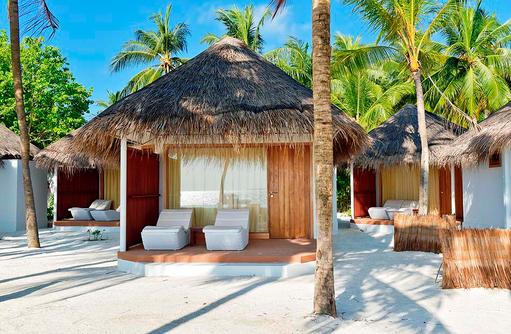 Standard Deluxe, Terrasse, Blick von vorne, Thulhagiri Island Resort, Maldives