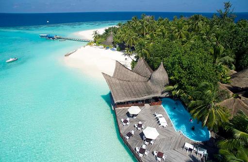 Pool von oben, Thulhagiri Island Resort, Maldives