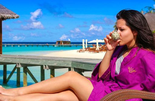 Sonne genießen, Vakarufalhi Island Resort, Maldives