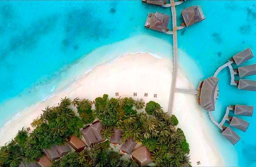 Vogelperspektive der Insel, Vakarufalhi Island Resort, Maldives