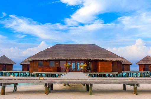Blick auf den Spa, Vakarufalhi Island Resort, Maldives