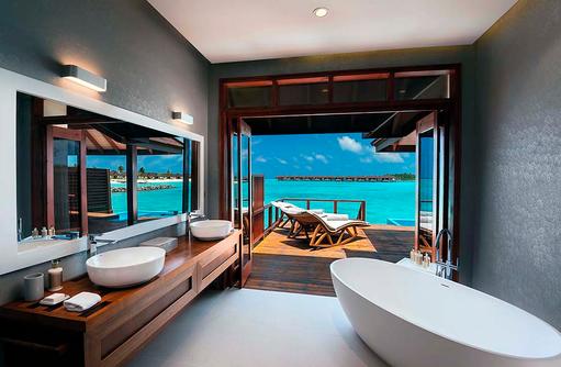 Badezimmer, Water Villa with Pool, Varu by Atmosphere