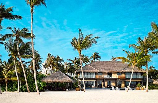 Velaa Private Residence, Außenansicht, Blick vom Strand, Velaa Private Island Maldives