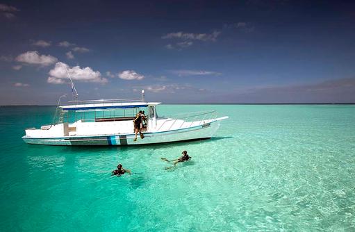 Tauchen vom Boot aus, Velassaru Maldives