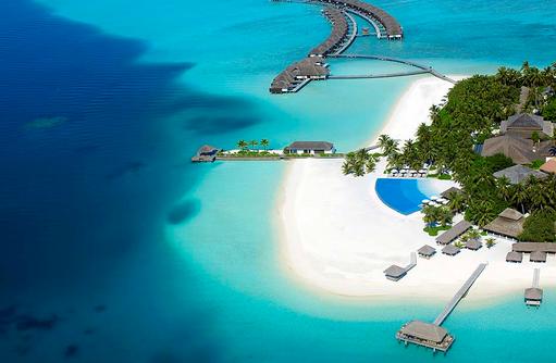 Inselansicht von oben, Velassaru Maldives