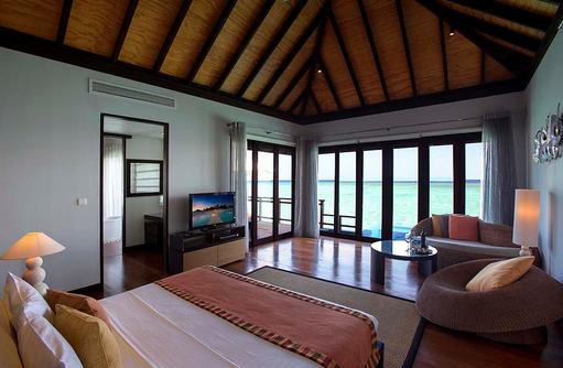 Wasservilla, Schlafbereich,Velassaru Maldives