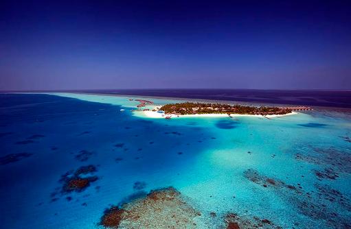 Überblick auf die Insel, Velassaru Maldives