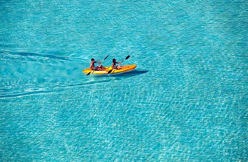 Kajak fahren, Velassaru Maldives
