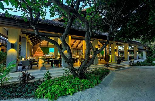 Eingang Restaurant Vela, Velassaru Maldives