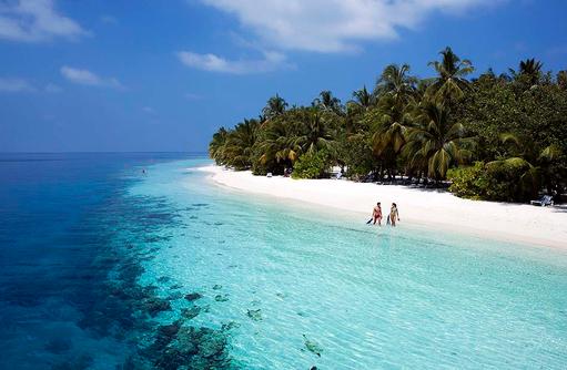 Schnorcheln direkt vom Strand aus, Vilamendhoo Island Resort, Maldives