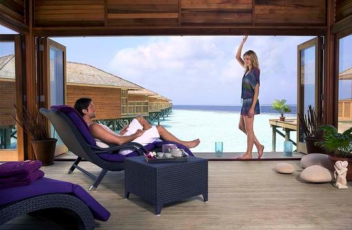 Ruhebereich im Spa, Vilamendhoo Island Resort, Maldives