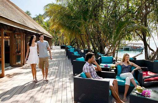 Aussenbereich Bonthi Bar, Vilamendhoo Island Resort, Maldives