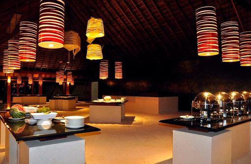 Ahima Restaurant Buffet, Vilamendhoo Island Resort, Maldives