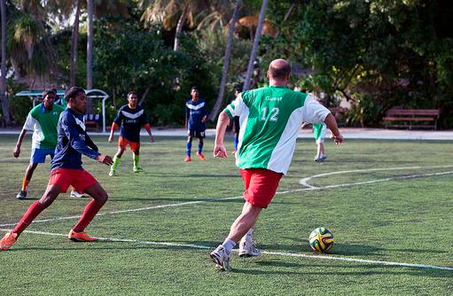 Fussballplatz, Vilamendhoo Island Resort, Maldives