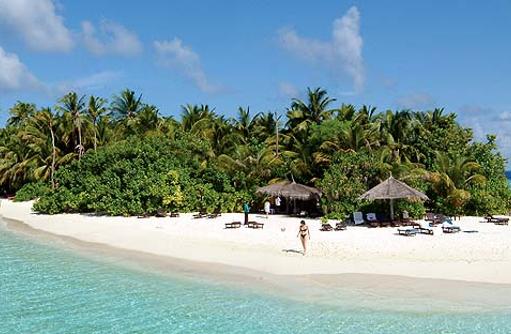 Seitenanblick auf die Insel,  Vilamendhoo Island Resort, Maldives