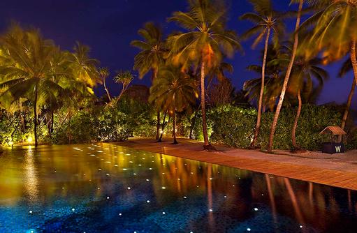 WET® pool bei Nacht, W Retreat & Spa Maldives