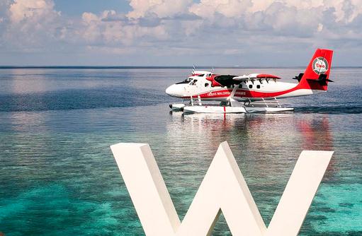 Ankunft Wasserflugzeug, W Retreat & Spa Maldives