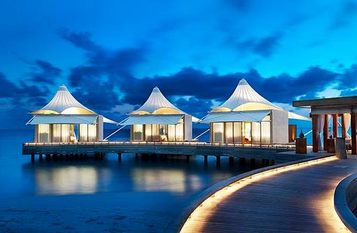 AWAY® Spa bei Dämmerung, W Retreat & Spa Maldives