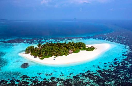 Luftansicht auf Gaathafushi, W Private Island, W Retreat & Spa Maldives