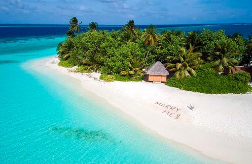 Strand, Heiratsantrag, W Retreat & Spa Maldives