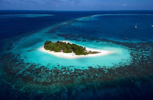 Vogelperspektive auf W Retreat & Spa Maldives