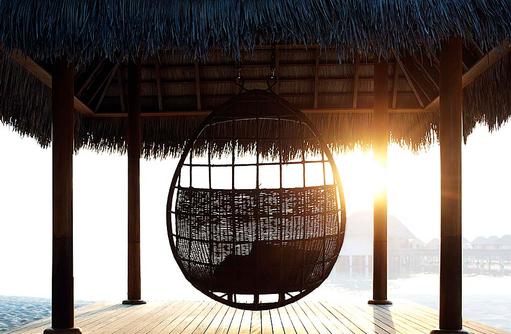 Außenterrasse, Hängesessel, W Retreat & Spa Maldives