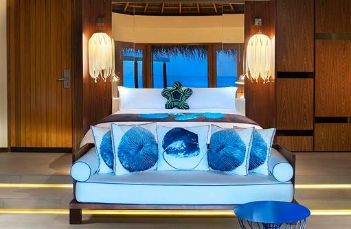 Fabulous Lagoon Spectecular Ocean Oasis, Schlafzimmer, W Retreat & Spa Maldives